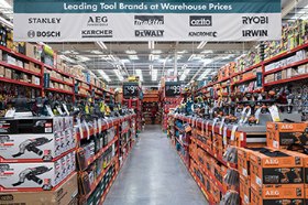 The tool offer includes top UK and international brands