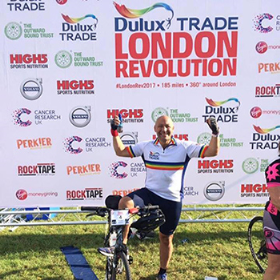 Mr Alfonso at the Dulux Revolution cycle