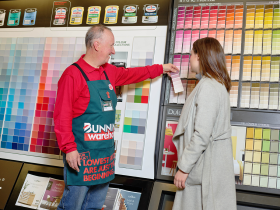 The new store features a number of services, including paint mixing