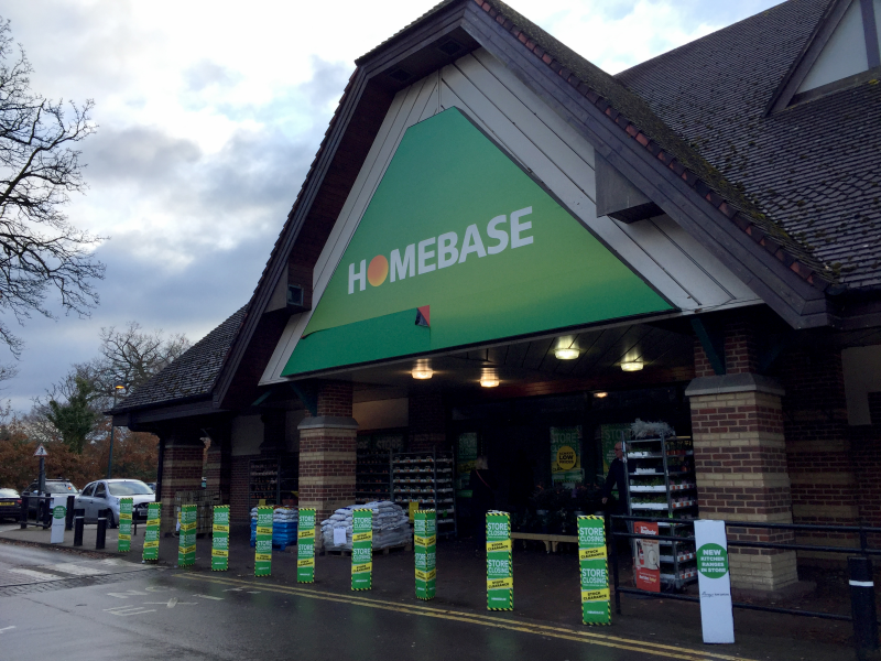 The 26,234sq ft Homebase store in Walton on Thames will open next month as a smaller-format Bunnings