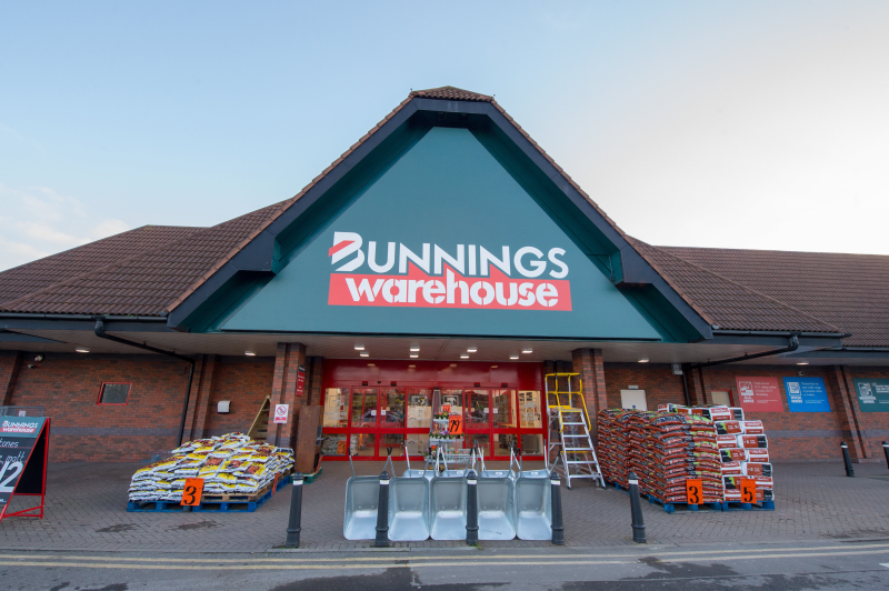 The Bunnings Warehouse in Hanworth was one of four stores to have its official opening today