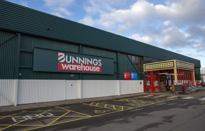 The former Homebase in High Wycombe opened its doors as a Bunnings Warehouse today