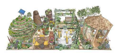 The HTA exhibit will incorporate four gardens that flow together as one and promises activities and ideas that garden retailers can use in store to join in with the Chelsea buzz