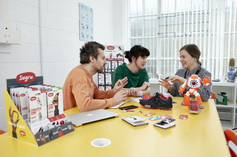 Sugru inventor Jane ní Dhulchaointigh (centre) and her team have been nominated for a European Patent Office (EPO) prize