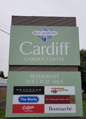 Blue Diamond Garden Centre in Cardiff was hit by a blaze this week, though luckily not as devastating as the fire which destroyed the business back in 2013.