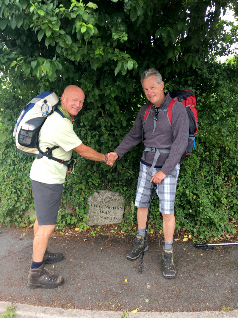 Keith Willey and Barry Kennings pictured at the start of the adventure