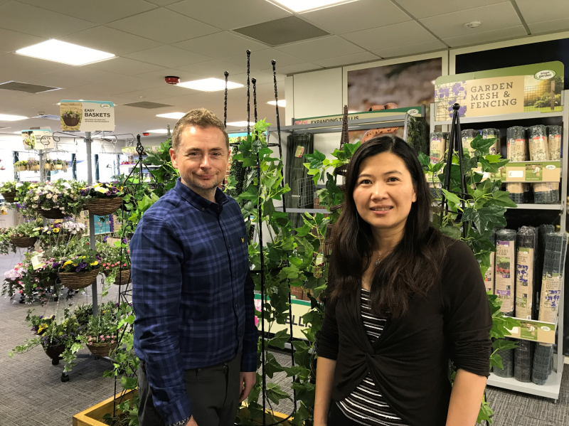 L-R: Darren Bailey and Michelle Lee have joined Smart Garden Products