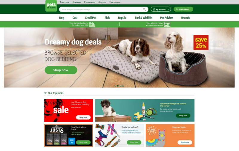 The retail side of Pets at Home