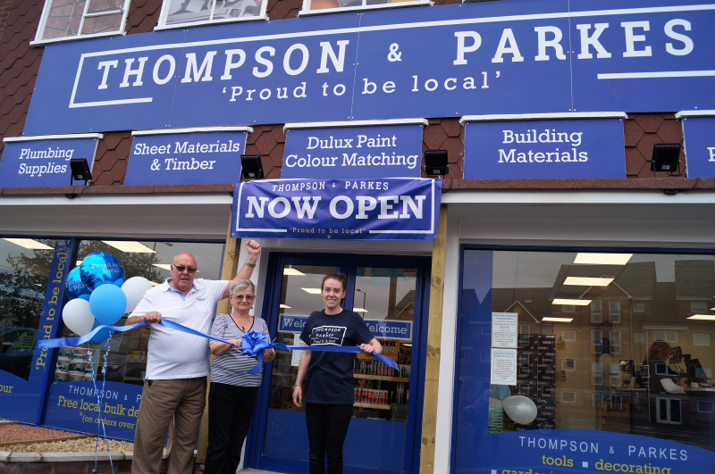 L-R: Thompson & Parkes directors, Gary Wells and Jean Morris with Stourport store manager Nikki Shipton