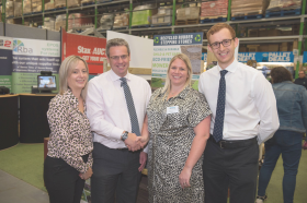 Pictured from left are Primeur's Sarah McLafferty, Simon Wright of Stax, Primeur's Jenny Douthwaite and Stax's Matthew Ball