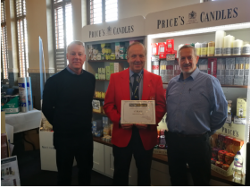L-R: Chris Adams (national sales manager), David Adams (chairman of Home Hardware) and Michael Hollings (sales agent).