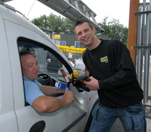 Sales have shot up 23% since a Welsh DIY store opened its new drive-through