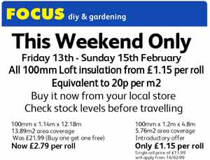 Advert for Focus DIY rolls