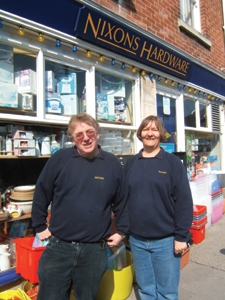Derek and Julie Hancock outside their current premises