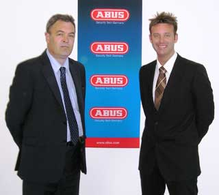 Two new Abus regional sales managers Robert Hirst and Neil Lafferty