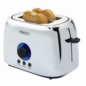 The Tesco Tricity two-slice toaster