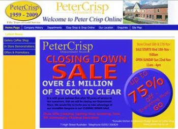 Recession leads to department store closure