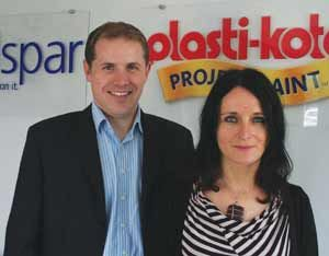 L-r: Daniel Fox and Mariana Hudecova