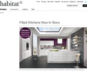 Habitat updates offer with fitted kitchens and new website