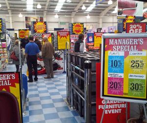 The closing down sale in Focus' Launceston store