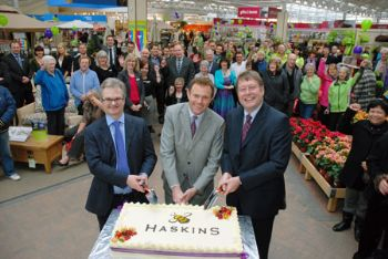 Julian Winfield, Nick Herbert and Warren Haskins perform the cake cutting ceremony.