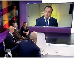 Mr DAwson addresses the panel. Image courtesy of Channel 4.