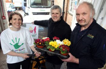 Briony Markham from Greenfingers, Tim Brophy from W&H Peacock and Clive Hughes from Solus