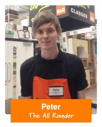 Peter is one of the B&Q 'You Can Do It' experts on call to answer DIY queries this Bank Holiday