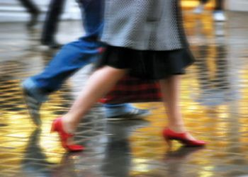 Rainy weather discouraged high street sales, said the BRC