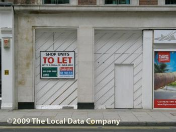 34% of UK town centres saw more empty shops in Q1 2012 than 2011...