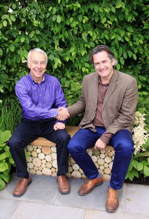 Retiring chairman Richard Jackson with new Greenfingers boss Matthew Wilson