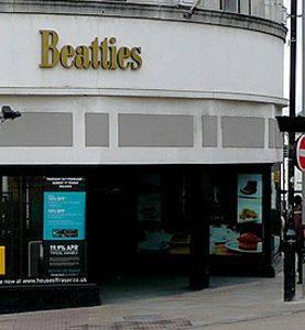The first Beatties store was established in Wolverhampton