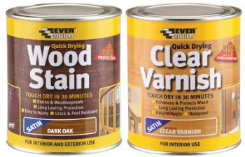 new wood stains and varnishes from everbuild