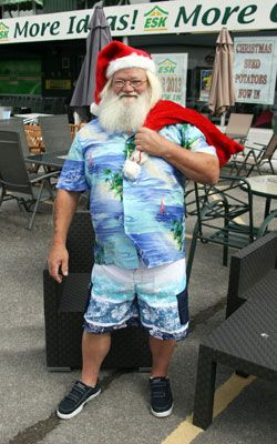 ESK's Santa in his summer wardrobe
