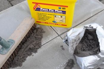 Sika makes grouting paving easy