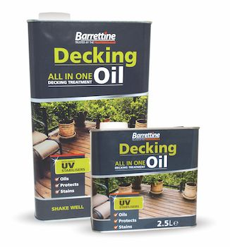 Barrettine Decking Oil offers special formula
