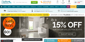 Victoria Plumb challenged claims in several Better Bathrooms adverts, including banners appearing in its website promoting its