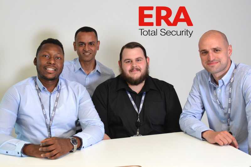 Meet the team: (L-R) customer support manager Liam Moses, pictured with customer support advisors, Kaush Patel, Matthew Bird and Phil Robinson.
