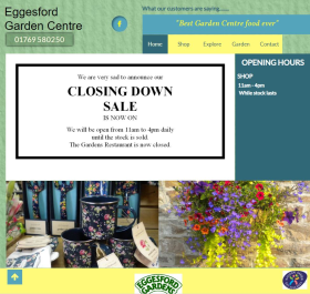 Eggesford GC is currently having a closing down sale as the business prepares to shut up shop for good.