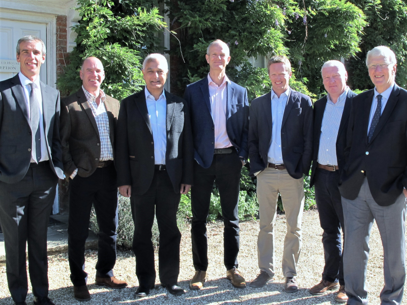 The New Hillier board, including Geoorge Hillier (far left), Martin Hillier and Robert Hillier (far right)