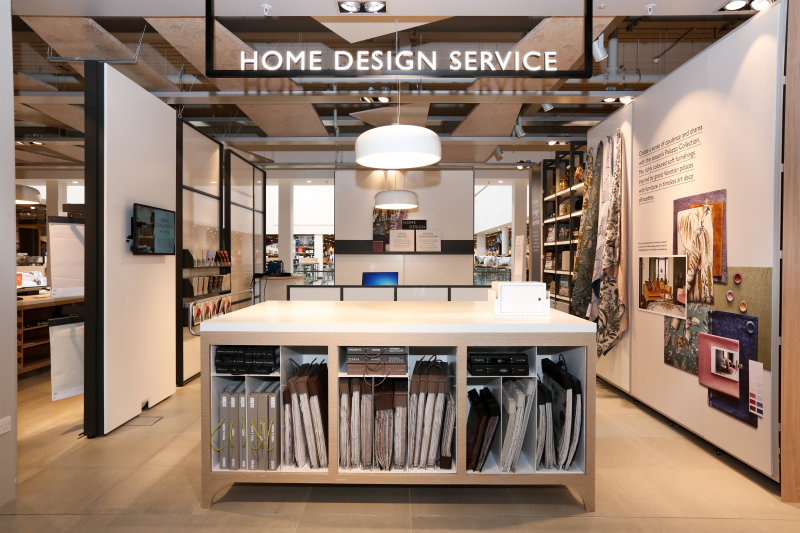Other pre-bookable services at the store include a home design consultation