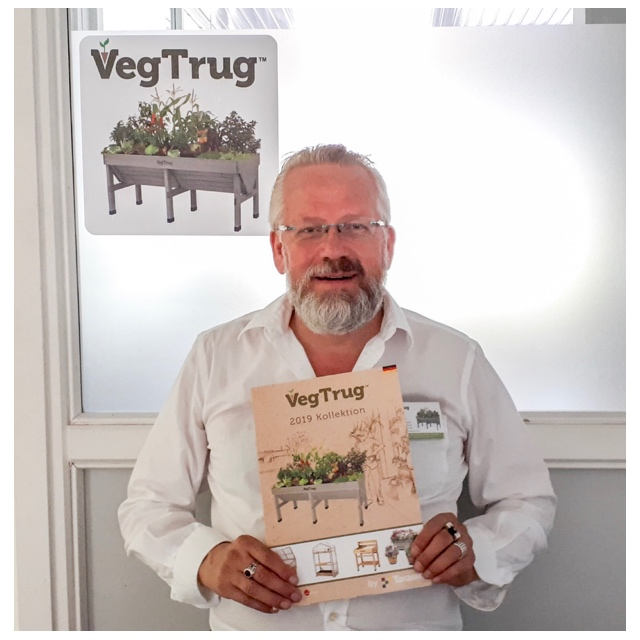 Petrus Lahm has taken up the role of sales representative for Vegtrug in Europe and will be based in Germany