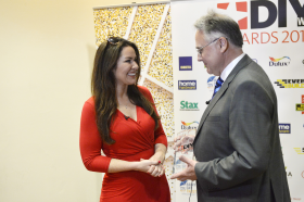 Georgina Burnett speaking to Paul Bagnall at the DIY Week Awards 2018