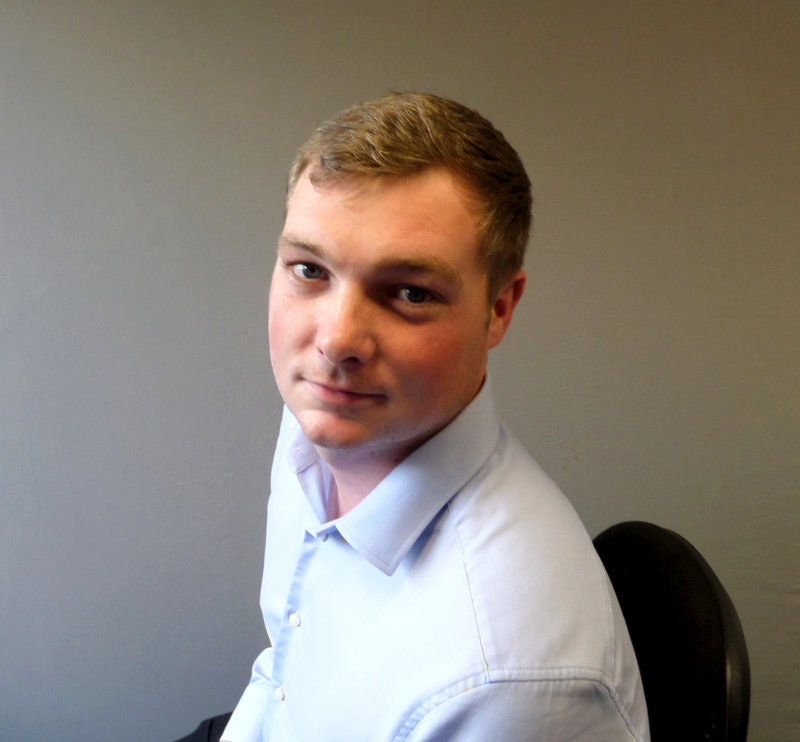 Tom Poprter has been promoted to sales co-ordinator at Rudridge Farnham