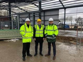 (L-r) Andy Mears, Centre Manager at Tong Garden Centre, Jamie McCullough, Relationship Director for HSBC UK, Charlie Barker, Finance Director at YGC Group