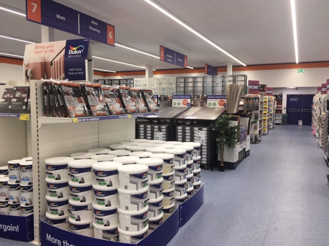 The new store has almost doubled in size, allowing for a greater offer, including an extensive DIY and decorating offer