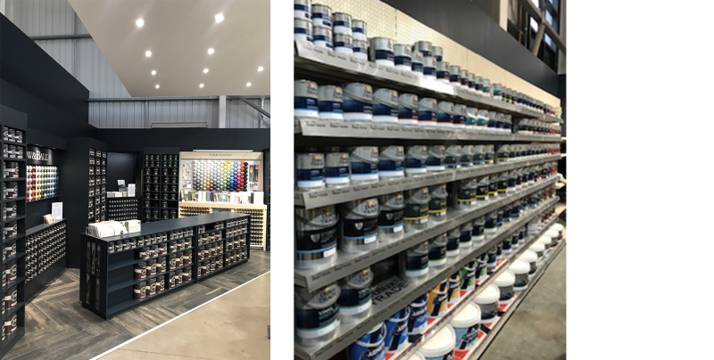 The Paint Centre carries paints fromleading brands at competitive prices, with advisers on hand to offer advice and colour guidance