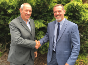 (Pictured left to right) Mark Butler – national sales manager with David Beech, Vitax's new area sales manager