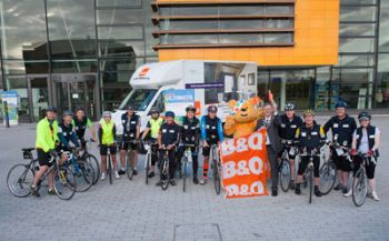 B&Q staff cycle 240 miles for Children in Need
