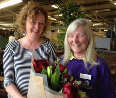 Garden centre assistant clocks up 25 years and retires